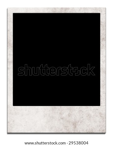 Istant photo frame on an isolated background