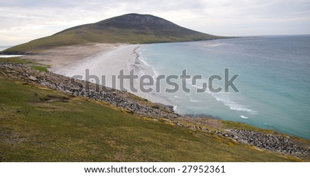 Isthmus - Saunders Island (Falkland Islands) - stock photo