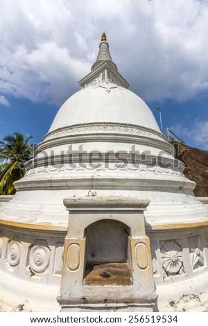 Isurumuniya is a Buddhist temple situated near to the Tisawewa (Tisa tank) in Anuradhapura, Sri Lanka, - stock photo