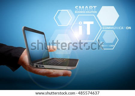 IT concept from laptop