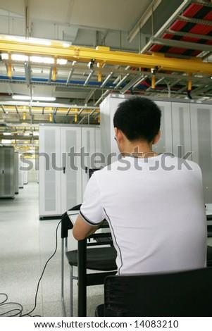 IT Engineer Working - stock photo