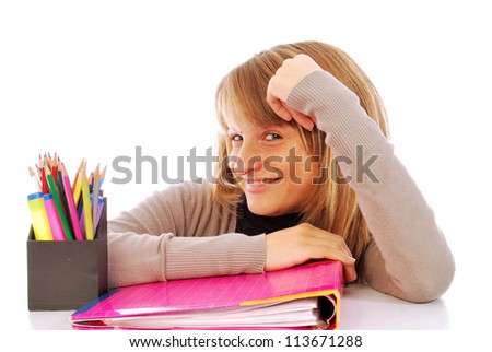It goes back to school - 113 - stock photo