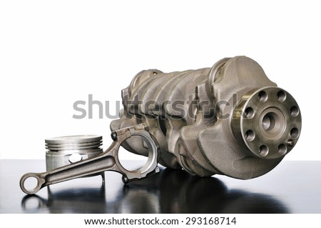 It is a Japanese-made car of the crank shaft and the piston - stock photo