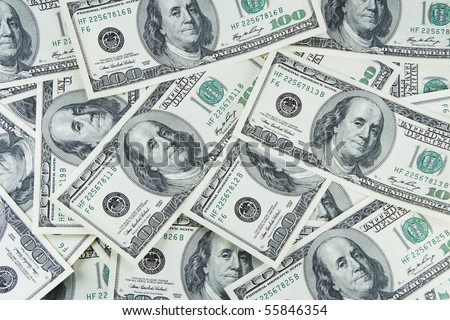 It is a lot of denominations of dollars in the form of a background