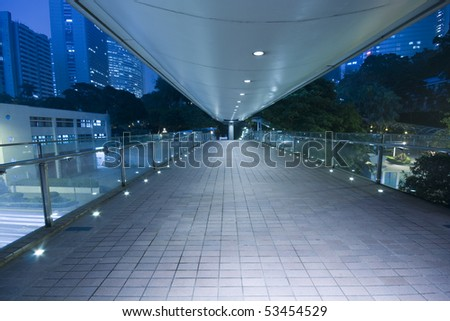 It is a modern flyover in Hong Kong - stock photo
