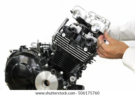 It is a motorcycle engine made in Japan 400?