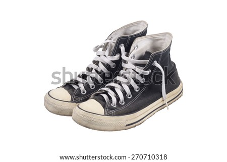 It is Canvas shoes isolated on white.