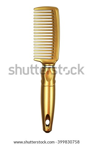 It is Gold comb isolated on white. - stock photo