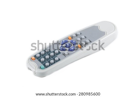 It is Gray remote control isolated on white. - stock photo