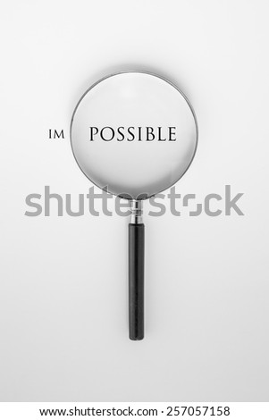 it is possible - stock photo