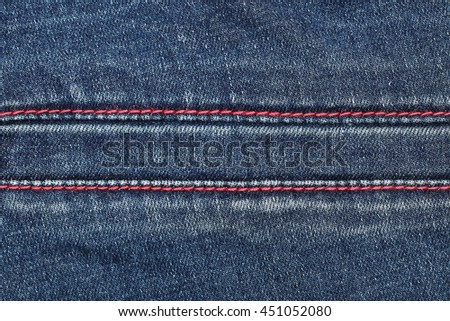 it is seam on jeans texture for pattern. - stock photo