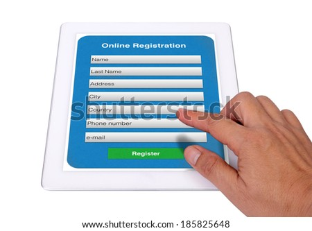 It is simple to input your information to on line registration form.