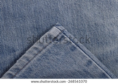 It is Stitch and seam clothing for leg of jeans for pattern. - stock photo