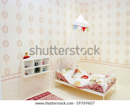 It is the baby's  lovely bedroom. - stock photo