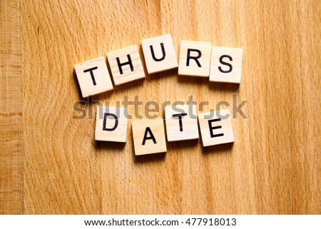 It is Thurs date