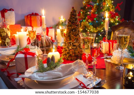 It is time for Christmas Eve - stock photo