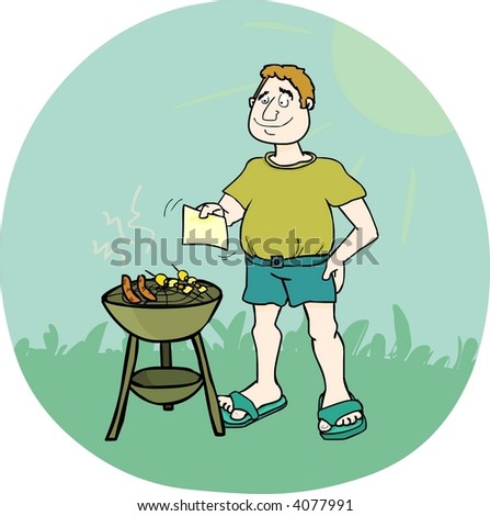 It's barbecue time! - stock photo