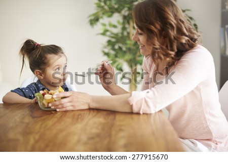 It's lunch time for us - stock photo