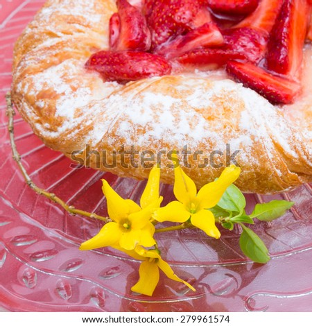 It's strawberry time! - stock photo