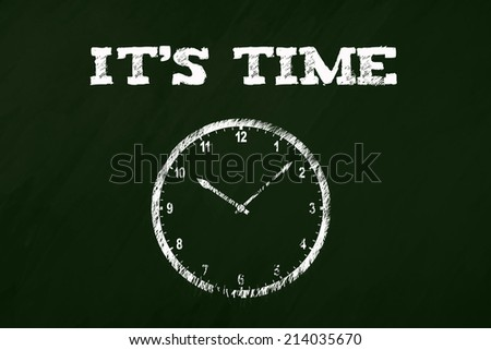 It's time background - stock photo