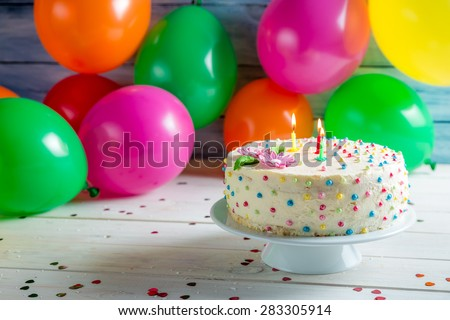 It's time to share birthday cake - stock photo