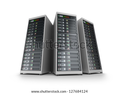 IT server grid - stock photo