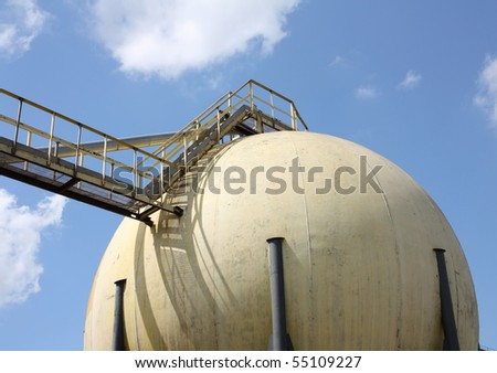 It shows a grain structure for grain storage