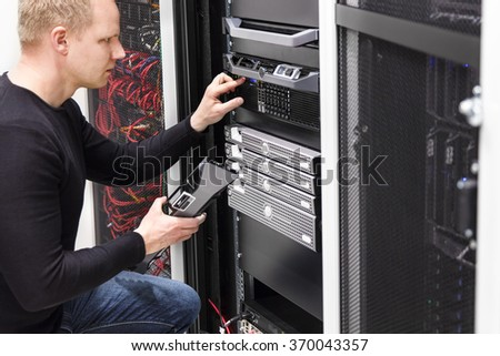It technician maintain servers an SAN in datacenter