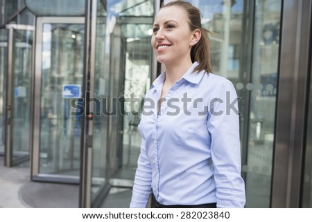 It was hard but very effective day at work - stock photo