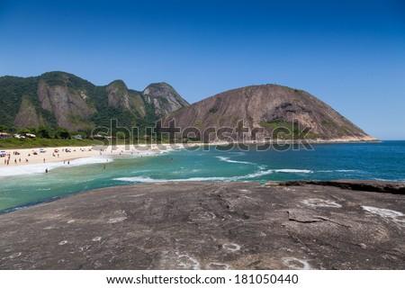 Itacoatiara beach,Niteroi,, Rio de Janeiro, Brazil  - stock photo