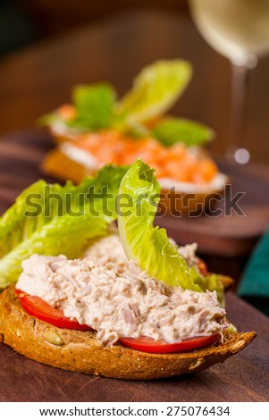 Italian Appetizer Bruschetta - stock photo