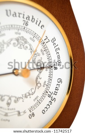 italian barometer - stock photo