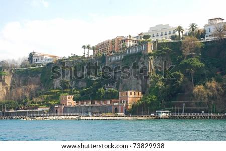 Italian beautiful town Sorrento - stock photo