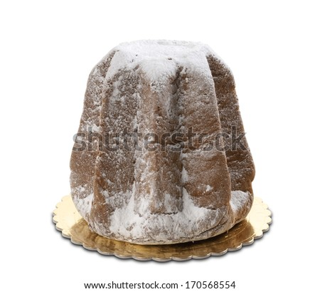 italian cake named Pandoro, typical christmas cake  - stock photo