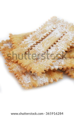 ... pastry.Traditional carnival pastry, chiacchere or crostoli, bugie