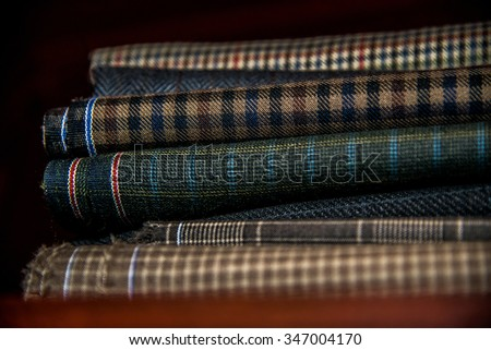 Italian cloth suit, tailoring tradition  - stock photo