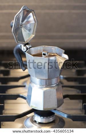 Italian coffee machine - stock photo