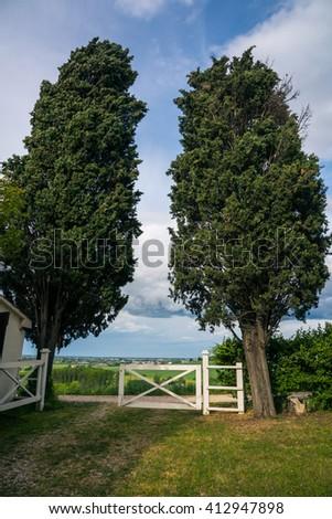 italian country house - stock photo