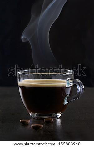 Italian cup of coffee - stock photo