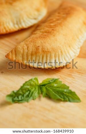 Italian dish , Panzerotti - stock photo