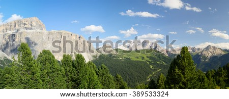 Italian Dolomites landscape (Northern Italy) - stock photo