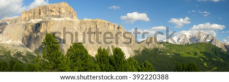 Italian Dolomites panoramic landscape - stock photo