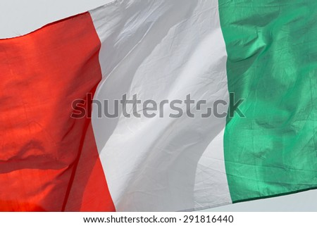 Italian Flag all Over the Picture Frame