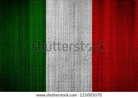 Italian flag towel texture as a background - stock photo
