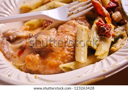 Italian food macaroni - stock photo