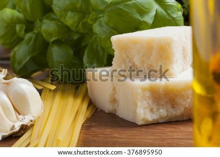 italian food mediterranean cooking pasta still life different kinds of pasta cheese and olive oil
