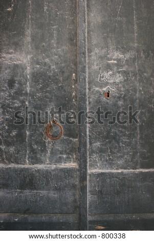 Italian Green Door - stock photo