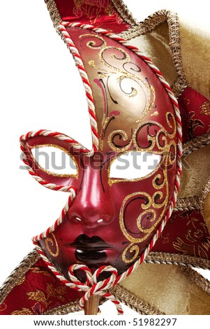 Italian hand painted mask