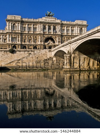 Italian High Court (Cassazione) building, Rome, Lazio, Italy - stock photo