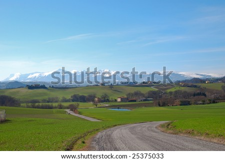 Italian landscape in the winter